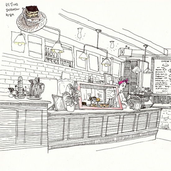 Cafe Drawing | Boyeon Choi