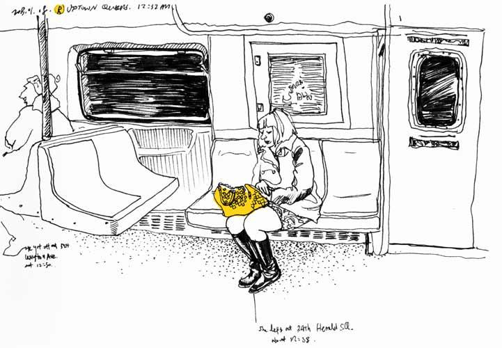Subway Drawing Boyeon Choi